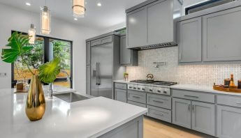 An image of an upgraded kitchen to increase home appraisal value