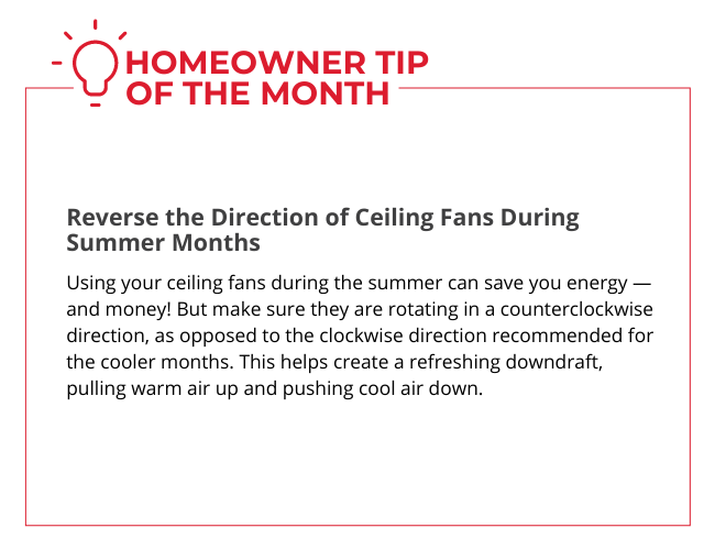 Homeowner Tip of the Month